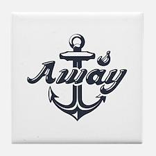 Anchors Away Tile Coaster