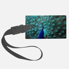 Peacock Luggage Tag