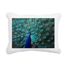 Peacock Rectangular Canvas Pillow