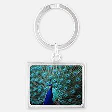 Peacock Landscape Keychain