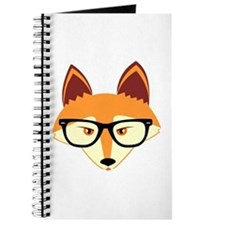 Cute Hipster Fox with Glasses Journal