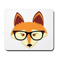 Cute Hipster Fox with Glasses Mousepad