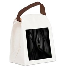 Creepy troll in woods Canvas Lunch Bag