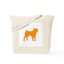 pug orange 1C Tote Bag