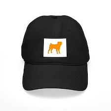 pug orange 1C Baseball Hat