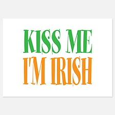 Kiss me im Irish St Patricks Day Invitations
