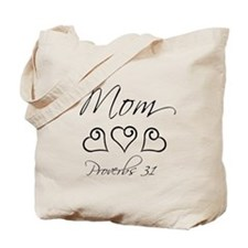 Proverbs 31 script mom Tote Bag