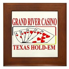 GRAND RIVER CASINO TEXAS HOLD-EM Framed Tile