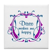 Disco Happiness Tile Coaster