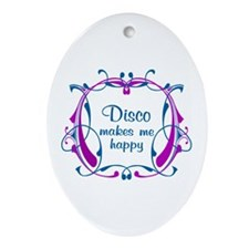 Disco Happiness Ornament (Oval)
