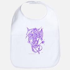 Purple Fighting Dragons Bib