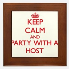 Keep Calm and Party With a Host Framed Tile
