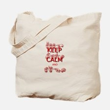 Keep Calm and Sign -in Sign Language Tote Bag