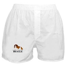 Cartoon Beagle Boxer Shorts