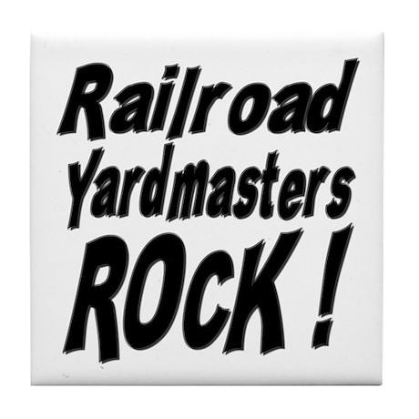 Railroad Yardmasters Rock ! Tile Coaster
