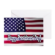 Presidents Day American Flag Greeting Card