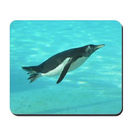 Penguin Swimming Underwater Mousepad