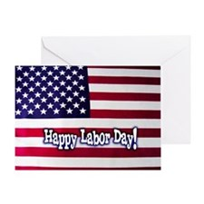 Labor Day American Flag Greeting Card