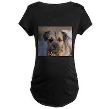 border terrier Maternity T-Shirt
