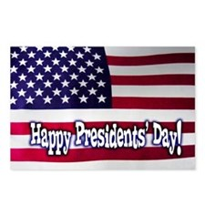 Presidents Day American F Postcards (Package Of 8)