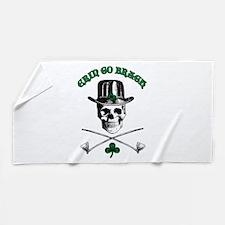Leprechaun Skull Beach Towel
