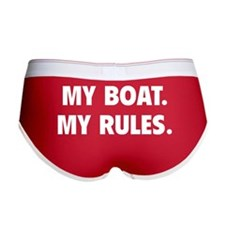 My Boat. My Rules. Women's Boy Brief