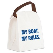 My Boat. My Rules. Canvas Lunch Bag