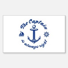The Captain Is Always Right Decal