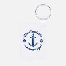 The Captain Is Always Right Keychains