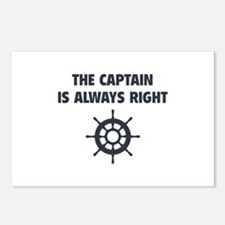The Captain Is Always Right Postcards (Package of