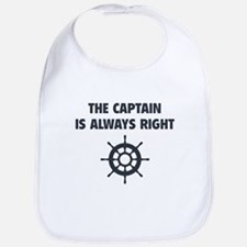 The Captain Is Always Right Bib