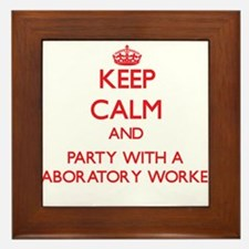 Keep Calm and Party With a Laboratory Worker Frame