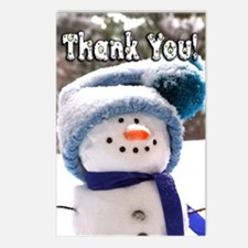 Adorable Handmade Snowman Postcards (Package Of 8)