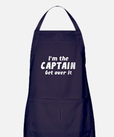 I'm The Captain Get Over It Apron (dark)