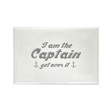 I'm The Captain Get Over It Rectangle Magnet