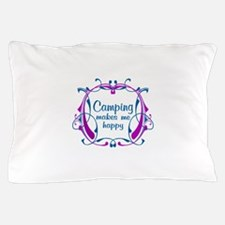 Camping Happiness Pillow Case