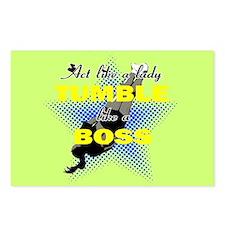 Tumble lika a Boss Cheerleader Postcards (Package