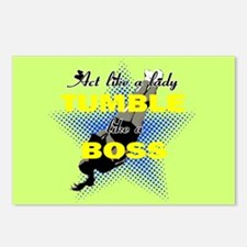 Tumble lika a Boss Cheerleader Postcards (Package