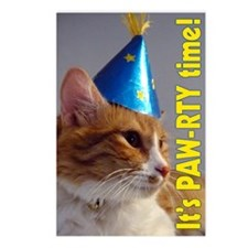 Its PAW-RTY Time Birthday Postcards (Package Of 8)