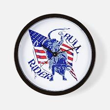 American Bull Rider Wall Clock