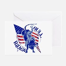 American Bull Rider Greeting Card