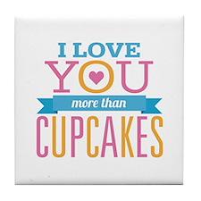 Love Cupcakes Tile Coaster