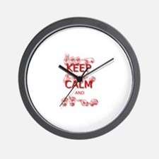 KEEP CALM and SIGN -in ASL Wall Clock