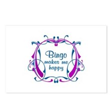 Bingo Happiness Postcards (Package of 8)