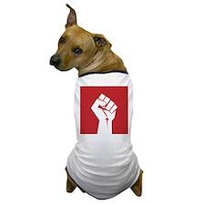 Retro fist design on red Dog T-Shirt