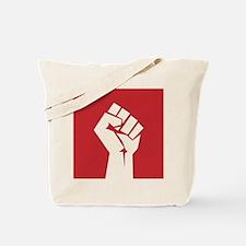 Retro fist design on red Tote Bag