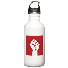 Retro fist design on red Water Bottle