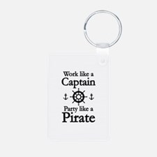 Work Like A Captain Party Like A Pirate Keychains