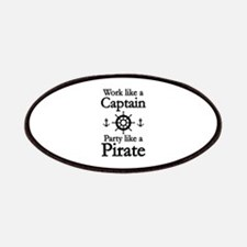 Work Like A Captain Party Like A Pirate Patches