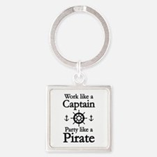 Work Like A Captain Party Like A Pirate Square Key